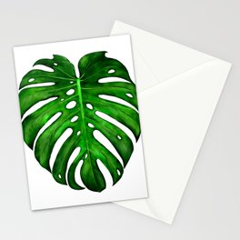 Monstera Leaf Paintings Stationery Cards