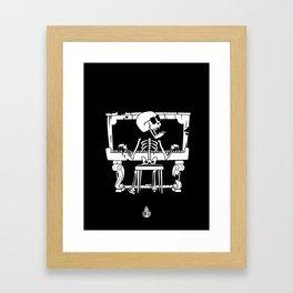 Piano ray Framed Art Print