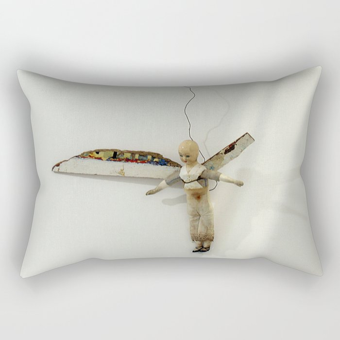 Flying Angel by Annalisa Ramondino Rectangular Pillow