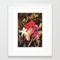 oasis Framed Art Prints featuring OASIS by Beth Hoeckel