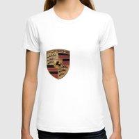 porsche T-shirts featuring Porsche FONT by kartalpaf