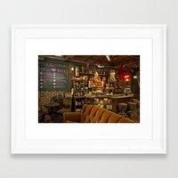 central perk Framed Art Prints featuring The Central Perk Bar by voxavila