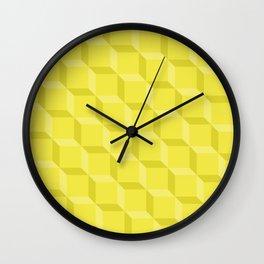 Chartreuse Lattice Wall Clock