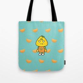 SULKY FACE tangerine Tote Bag