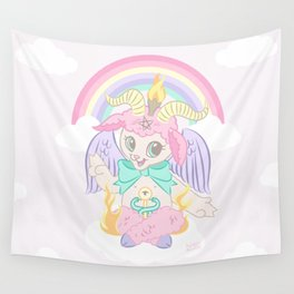 Baphomet Baptism by Fire Wall Tapestry