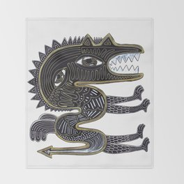 decorative surreal dragon Throw Blanket