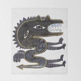 decorative surreal dragon Throw Blanket