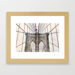 Brooklyn Brigde New York City ArtWork Paint Framed Art Print