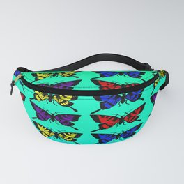 A Butterfly Pattern Fanny Pack