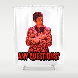 David S. Pumpkins - Any Questions? II Shower Curtain