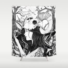 Nature goddess original Shower Curtain