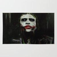 joker Area & Throw Rugs featuring Joker by Vanessa Leach