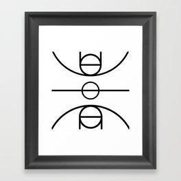 Basketball Court Framed Art Print