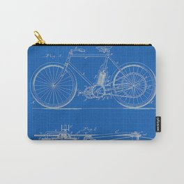 1901 G M Holley Motorcycle Patent Blueprint Carry-All Pouch