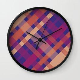 Violet Madras I Wall Clock
