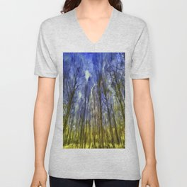 Fantasy Art Forest Unisex V-Neck