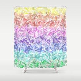 Crystal Gemstone Background Pattern - Geodes + Quartz Points Shower Curtain