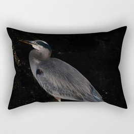 Heron at night Rectangular Pillow