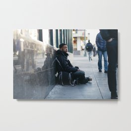 Homeless Metal Print