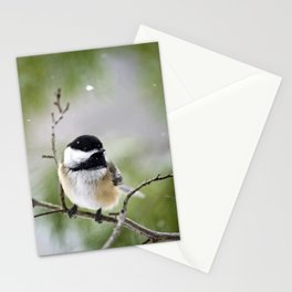 Chickadee Bird Stationery Cards