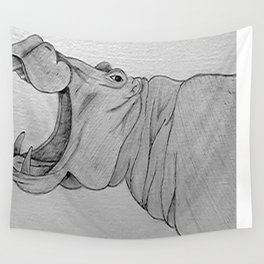 Hippo Wall Tapestry
