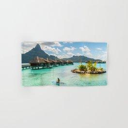 Paradise Honeymoon vacation luxury resort Tahiti SUP Hand & Bath Towel
