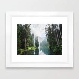Forest Reflection in Italy Framed Art Print