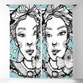 Ciro and Coralbabe Blue Blackout Curtain