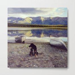 Alaska is Better with a Dog Metal Print