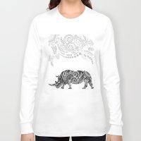 rhino Long Sleeve T-shirts featuring Rhino by famenxt
