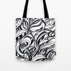 black and grey Tote Bag