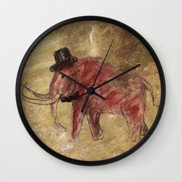 Cave art vintage mamut. Wall Clock