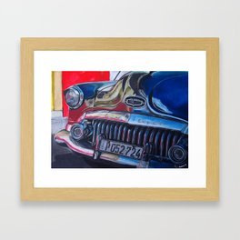 OldBuick Eight Car in Chalk Pastels Framed Art Print