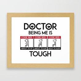Doctor Code Red Framed Art Print