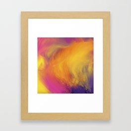 Abstract rainbow pattern Framed Art Print
