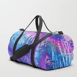 Psychedelic Forest (blue-pink) Duffle Bag
