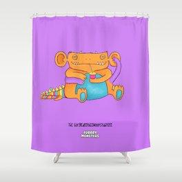 The GorgledeeFuzzwoopsydayzee Shower Curtain