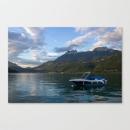 Boat Lake Annecy Canvas Print
