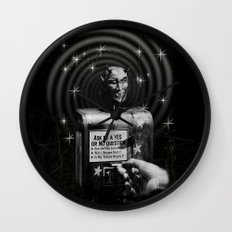 Devil's Question Box Wall Clock