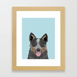 Kellan - Cattle Dog gifts for dog lovers and australian cattle dog gifts for dog person Framed Art Print