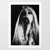three of the possessed Art Prints featuring Possessed by Damon Kizer Art