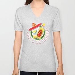 Cinco De Drinko Funny Cinco De Mayo T-Shirt Unisex V-Neck