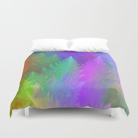 Pastel forest Duvet Cover