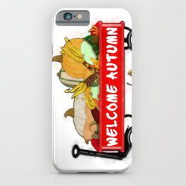 Welcome Autumn Digital Watercolor iPhone Case