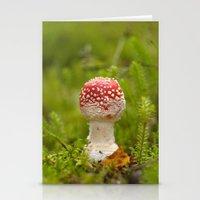 mushroom Stationery Cards featuring Mushroom by Mirella von Chrupek