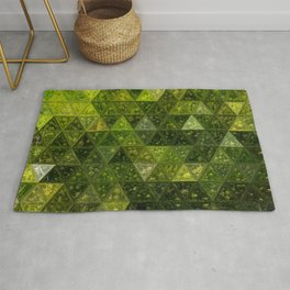 Mossy Green Triangles Rug