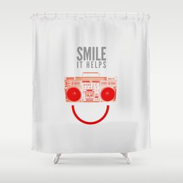 Smile. It Helps. Shower Curtain
