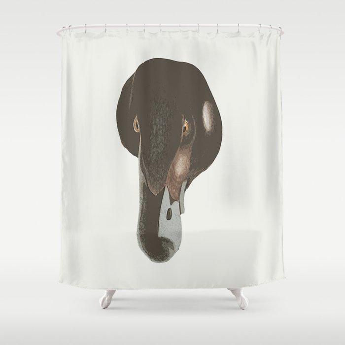 Duckface Loon Shower Curtain By Anipani