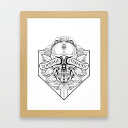 Courage Is What You Need Framed Art Print