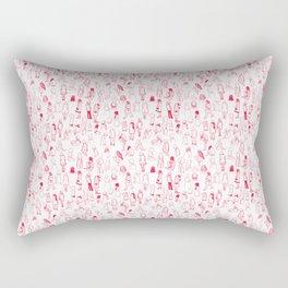 ELLAS SON COMO LAS FLORES DEL CEREZO IGUAL AL HAIKU Rectangular Pillow